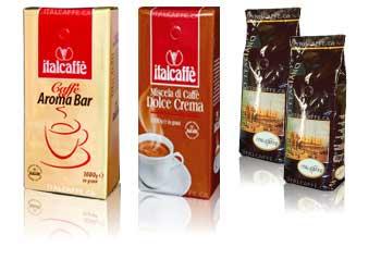 cafés d'importation italienne