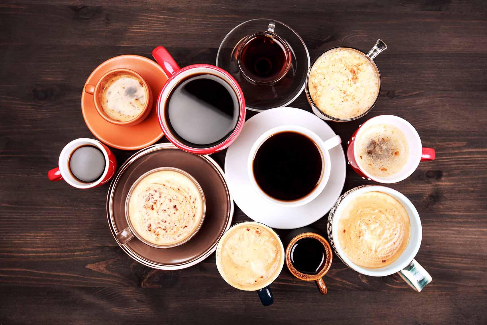 sélection de café filtre, espresso, cappuccino pour entreprise